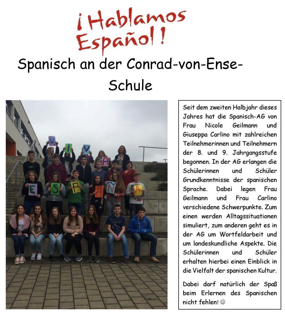 Spanisch an der Conrad