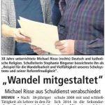 Herr Risse geht in Ruhestand - Quelle: Soester Anzeiger 09.02.2017
